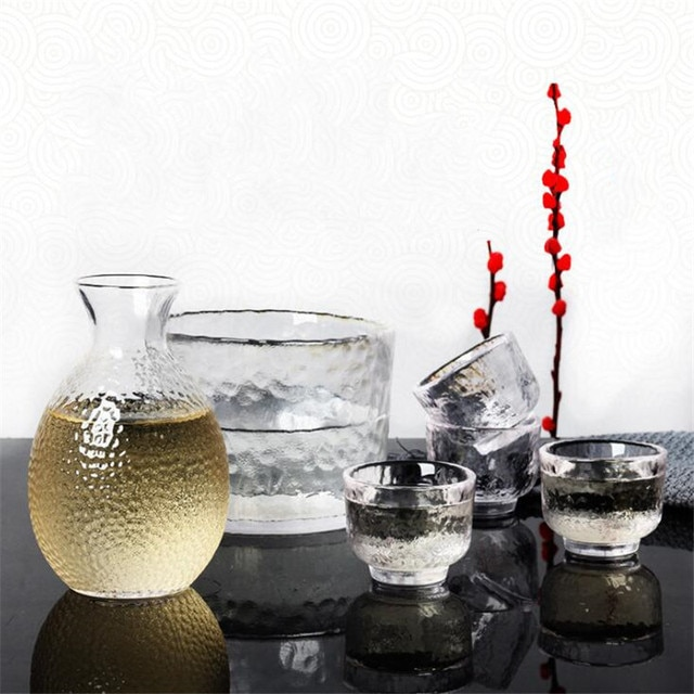 Wine Glass Set Japanese Style Divide Hand Made Heat Resistant Warmer 10