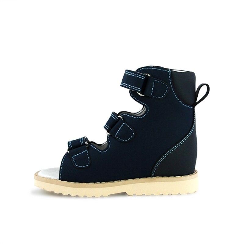 Ortoluckland Girls Princess Sandals Baby Orthopedic Leather Shoes For Kids Toddler Boys Ankle Medical Summer Blue Pink Platform enlarge