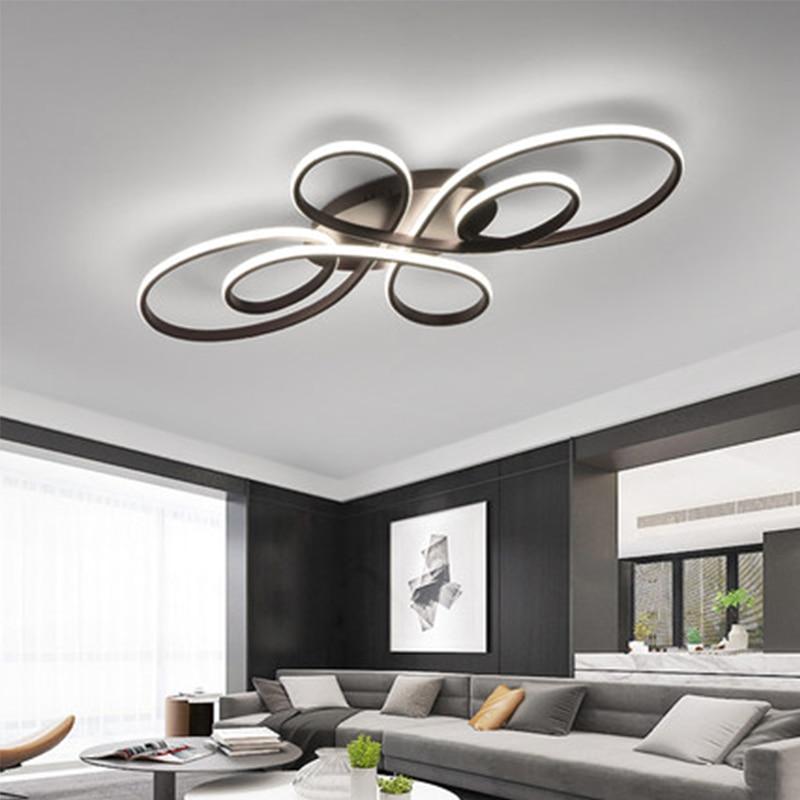 aluminum white black Modern LED  living room dining room bedroom study balcony  home decoration ceiling lamp enlarge
