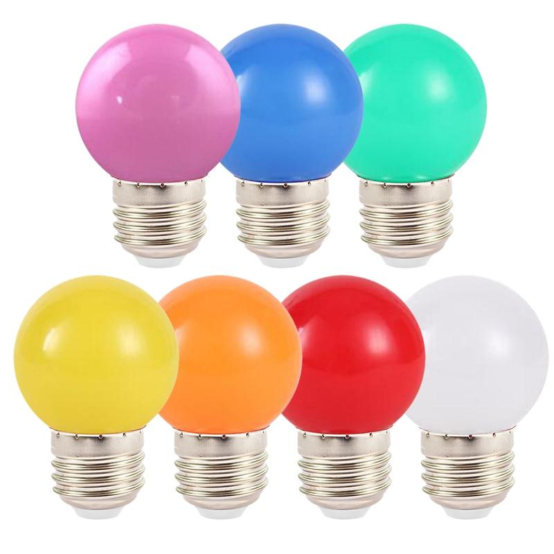 Lámpara LED E27 de 220V, Bombillas de colores, SMD 2835