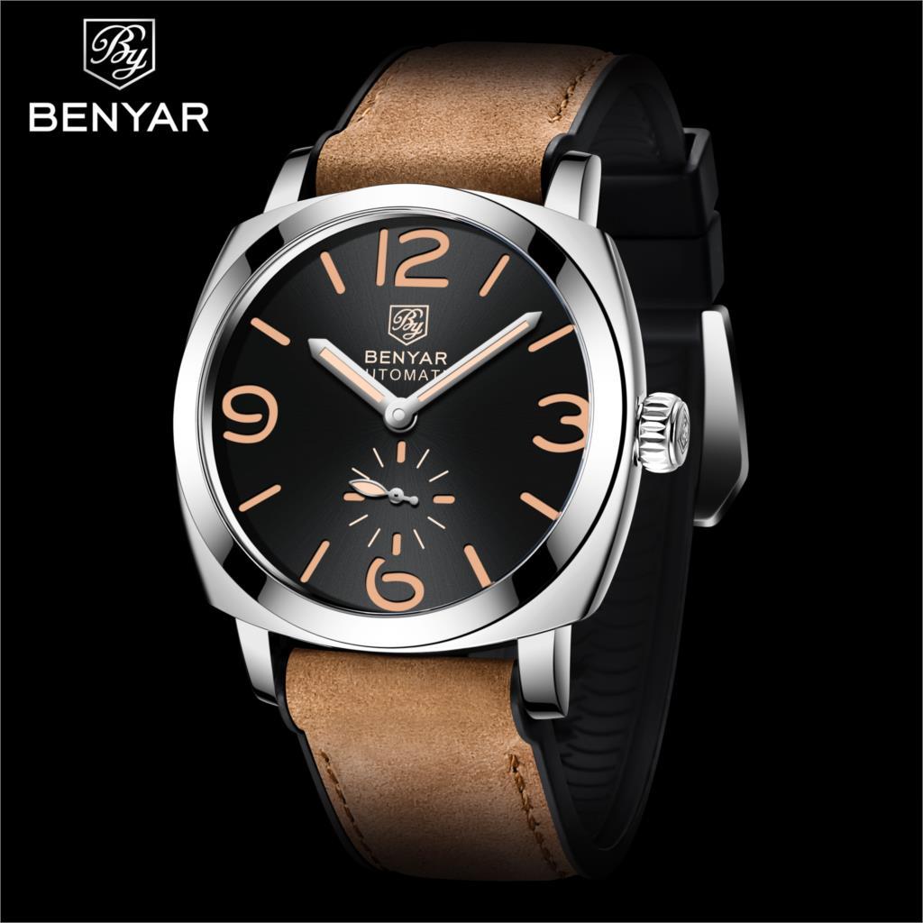 BENYAR Design 2021 New Top Fashion Casual Men's Automatic Mechanical Watch Multifunctional Waterproo