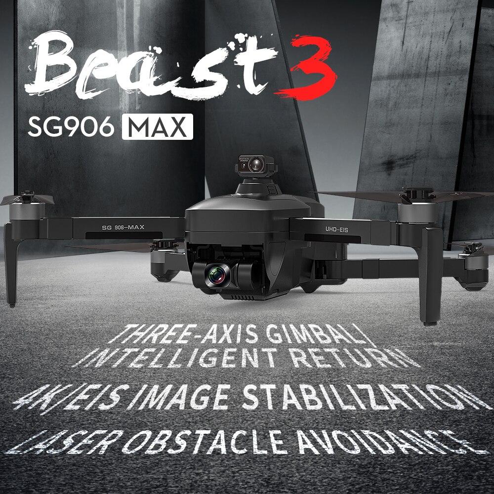 SG906 Max/Pro 3 rc Drone EVO de 3 ejes cardán 4K Cámara...