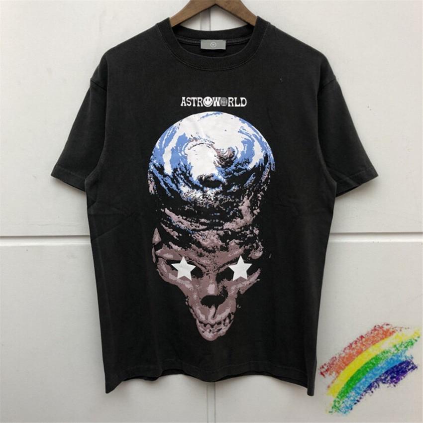 Travis Scott Astrodome hombres 11 Oversizer Astrodome TOUR TRAVIS SCOTT CACTUS JACK TEE Ojalá estuvieras aquí T camisa