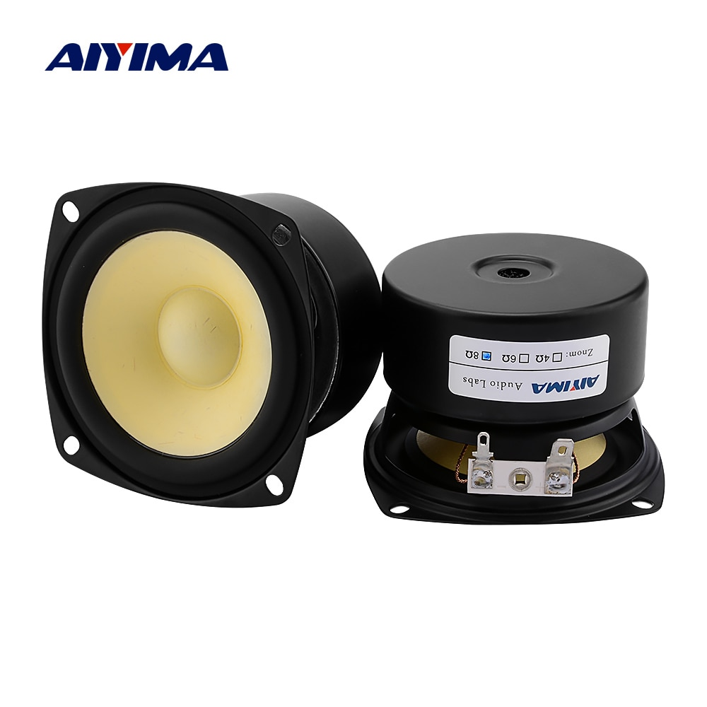 AIYIMA 2Pcs 3 Inch Sound Music Full Range Speaker Driver 4 8 Ohm 15W Loudspeaker Units DIY Home Amplifier Speaker Sound System