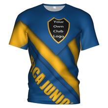 2017 2018 2019 Boca Juniors Soccer Jersey Football 3d T Shirt Argentina Boca Juniors Tracksuit Kit Kids Child Football T-shirts