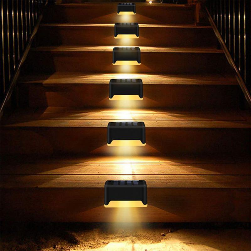 Solar Stair Waterproof Spot Light LED Garden Decoration Landscape Light Railing Wall Light Lighting Built-in Deck Footlight