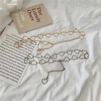 metal jewelry love fashion wild hollow belt cute heart shaped waist chain ladies waistband adjustable accessories