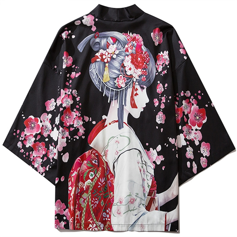 Japanese Anime Kimono Cardigan Girl Men Summer Haori Samurai Kimonos Streetwear Shirt Japones Women Beach Haori Yukata diabolik lovers anime sakamaki ayato kanato laito shu reiji subaru mukami ruki samurai kimono rubber japanese rubber keychain