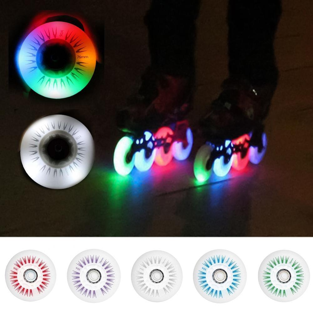 76 мм линейные скоростные роликовые колеса со светодиодной подсветкой
