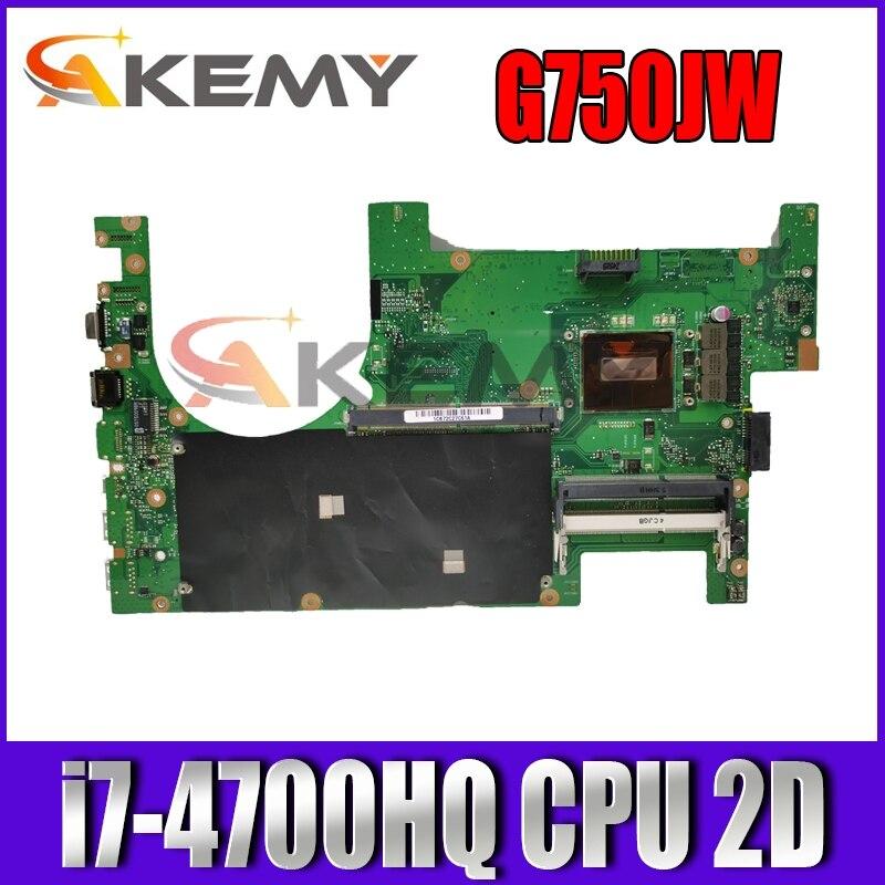 ROG G750JW مع i7-4700HQ وحدة المعالجة المركزية 2D موصل اللوحة الأم لأجهزة الكمبيوتر المحمول ASUS G750J G750JW 60NB00MO-MB4060 اختبارها بالكامل