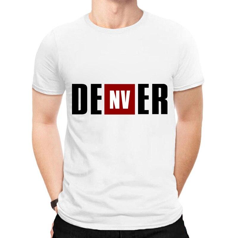 Camisa de manga curta dos homens da casa de papel engraçado t-shirts da série da tevê