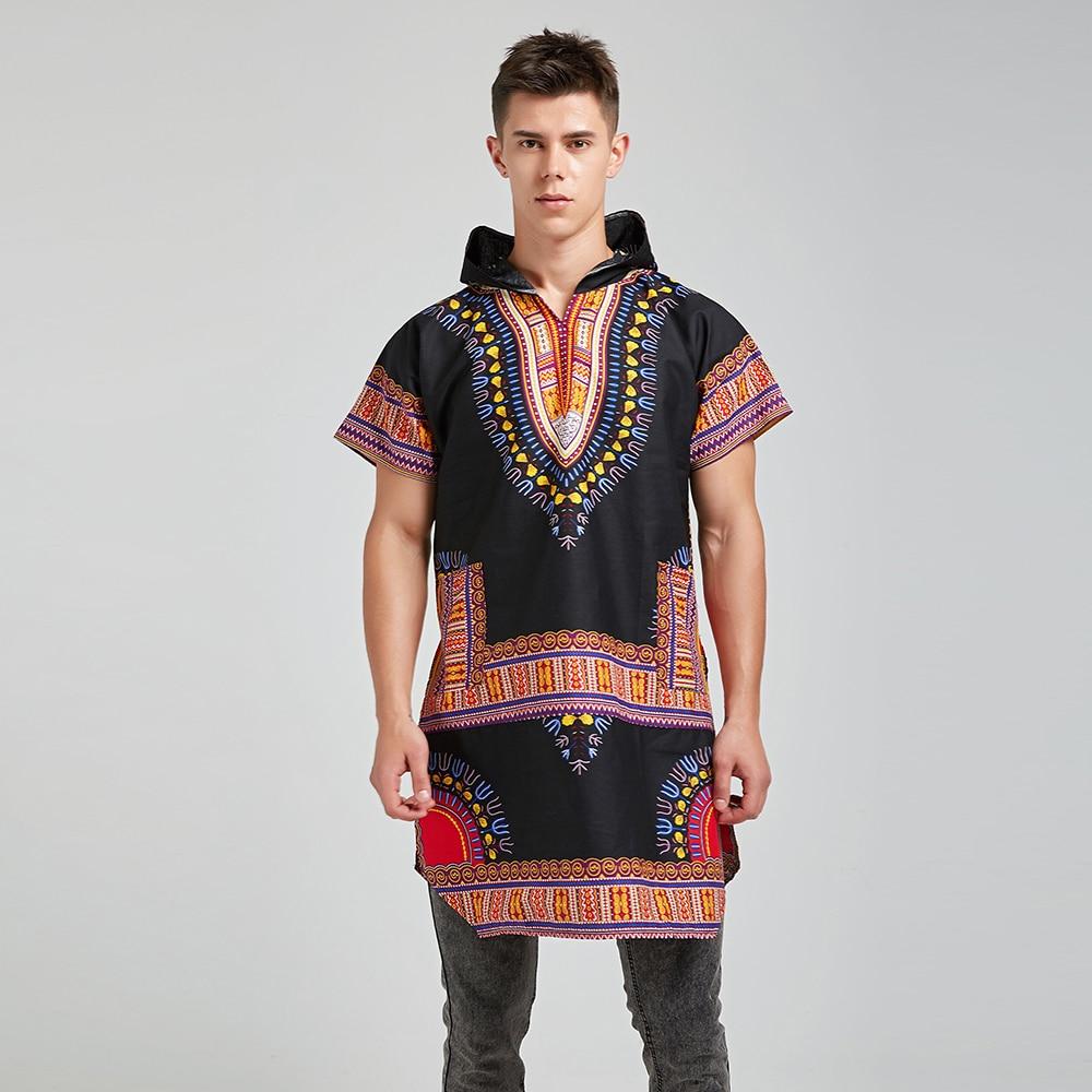 Dashiki roupas unissex impressão solta camisa hoodies tradicional hipster africano camiseta tribal etnia topos