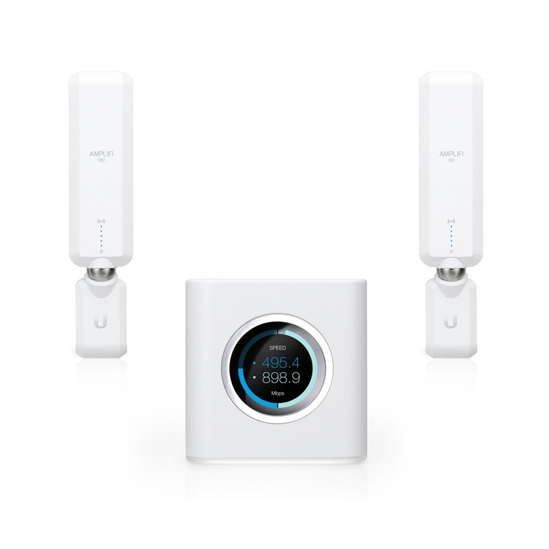 Ubiquiti AmpliFi HD (High-Density) Home Wi-Fi System Mesh 3x3 MIMO 802.11ac ( Includes 1 Router AFi-R + 2 Mesh Points AFi-P-HD )