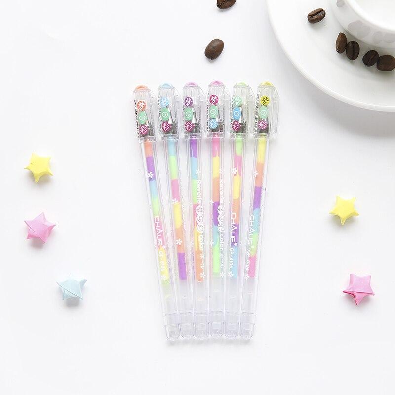1 ud. Bolígrafo de estilo iridiscente de dibujos animados, estuche para lápices, estuche para lápices Fácil y suave, papelería, suministros escolares creativos
