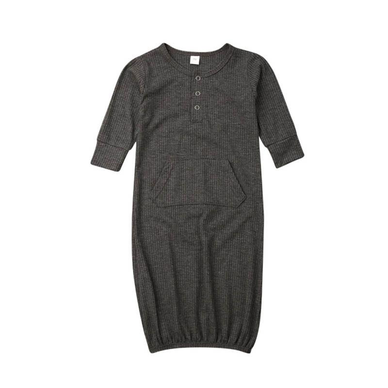 Algodão roupas de bebê recém-nascido infantil roupões manga longa sólido pijamas bebê meninos meninas sleepwear cobertor sleepwear n