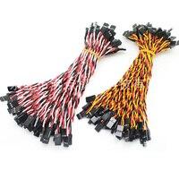 Сервоудлинительный кабель 10/15/30/50/100 см для Futaba JR, запасные части для радиоуправляемого вертолета, 10 шт.