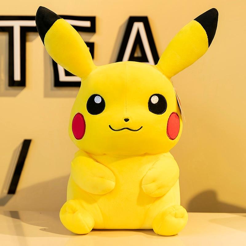 Anime 20CM Pokemon Cute Pikachu Plush Dolls TAKARA TOMY Stuffed Toy Cartoons Kawaii Movie Dolls Girl Kids Toys Christmas Gifts