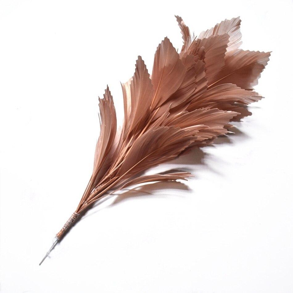 1 Uds penacho de plumas de colores para boda adornos de fiesta doméstica DIY plumas de ganso blancas naturales para manualidades accesorios de joyería 30CM