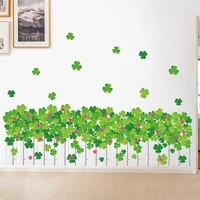 diy four leaf clover removable wall stickers four leaf clover clover fence skirting wall stickers background wall stickers