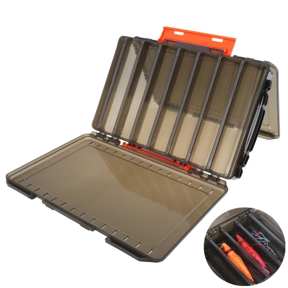 26,8x18,7x4,5 см двухсторонний полупрозрачный утолщенный 14 отсеков Коробка для приманки для блесна чехол для хранения приманки с ручкой