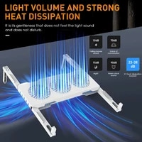 laptop cooling pad rgb foldable laptop cooler stand with 3 high speed quiet fans and non slip pillars gaming accessories