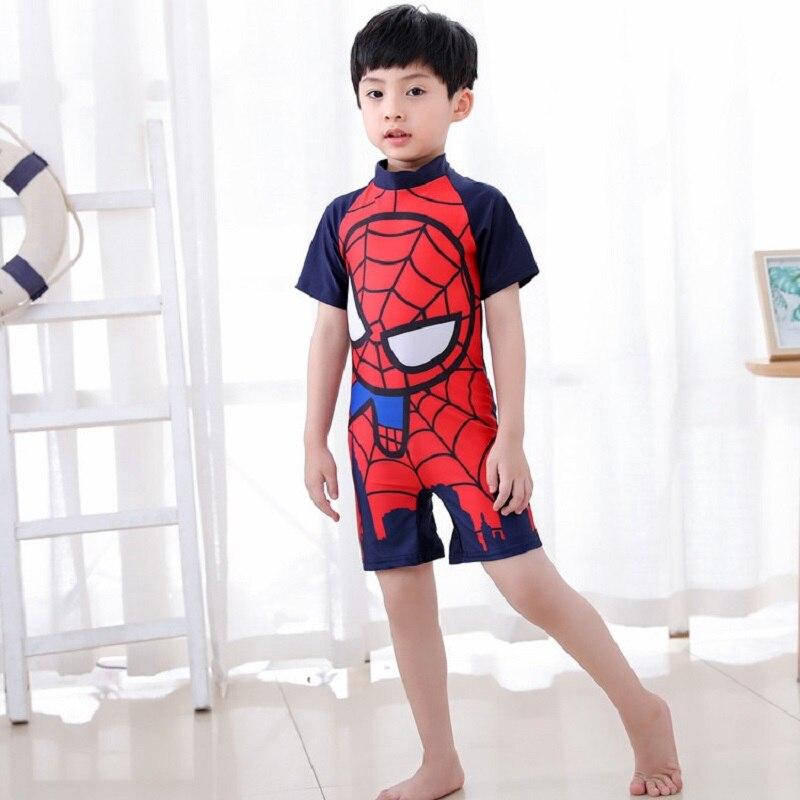 2019/2020 niños pequeños bebé niño o niña traje de baño de manga corta Batman traje de baño de una pieza de descuento