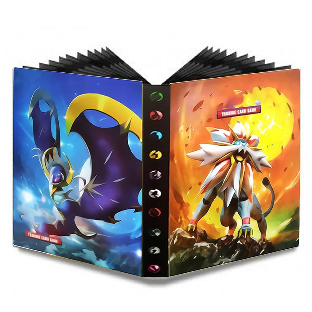 240pcs Game Album Pokemon Cartoon Pokemon Trading Cards Kid EX GX Collectible Book Loaded List Holder Capacity Binder Folder Toy