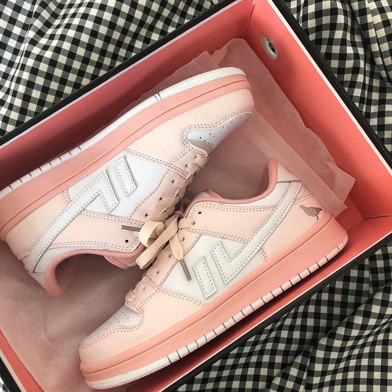 Patchwork Ladies Sneakers Pink Pigeon Print Woman Vulcanize Shoes Fashion 2021 Autumn Zapatillas Muj