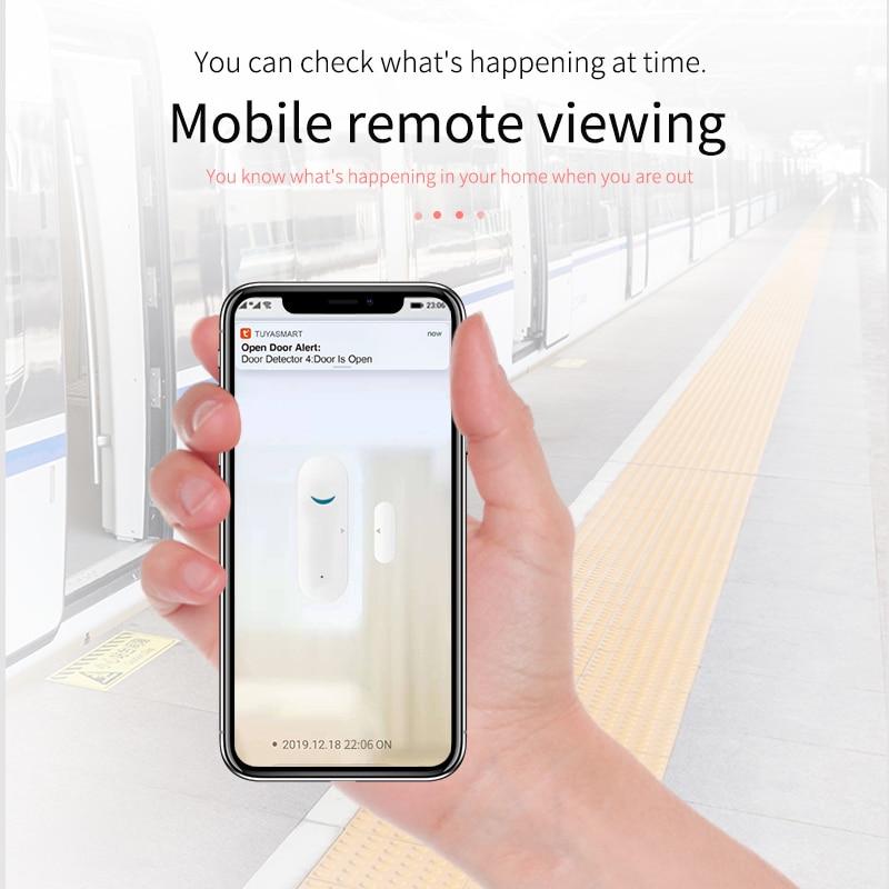 Detecteur intelligent douverture fermeture de porte  wi-fi  interrupteur magnetique  capteur de fenetre  alarme de securite pour maison connectee