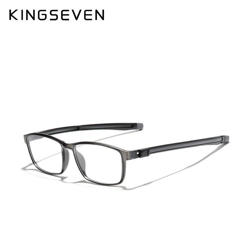 KINGSEVEN TR90 Glasses Frame Men Ultralight Square  Metal Myopia Support custom prescription lenses