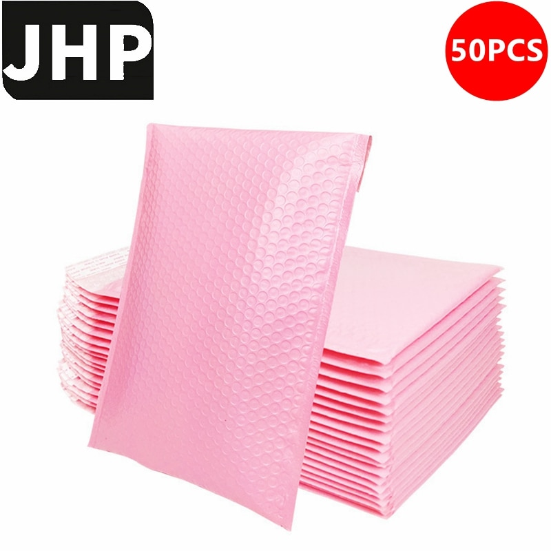 50PCS Small Size Shockproof Padded Mailing Bag for 3C Products Sending,Blue Pink Color Self Sealing Bubble Mailer Envelopes