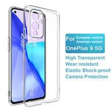 IMAK Transparent for OnePlus9 5G Soft Phone Case Back Cover Case for OnePlus9 5G TPU Shell Phone Bag