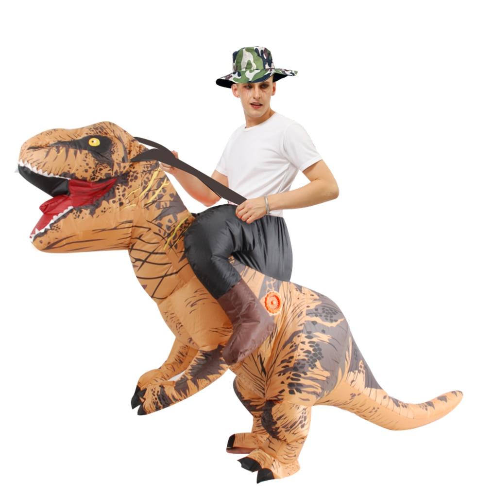 زي ديناصور قابل للنفخ ، هالوين ، تي ريكس ، تميمة المشي ، للرجل والمرأة ، للبالغين