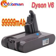 99999mAh 21.6V Li-ion Batterie pour Dyson V6 Batterie DC58 DC59 DC61 DC62 DC74 SV09 SV07 SV03 965874-02 Aspirateur Batte