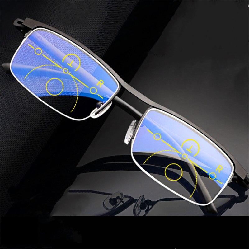 Multi-Focus Zoom Reading Glasses Super Elastic TR Feet Smart Far And Near Dual-Use Anti-Blue Light Unisex Reading Glasses YS10