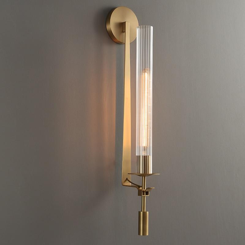 الحديثة الجدار مصباح الزجاج الذهب الأمريكية الشمال الشمعدان جديد الرجعية vintage غرفة المعيشة غرفة نوم الشرفة الممر شرفة الطعام إضاءة زينة
