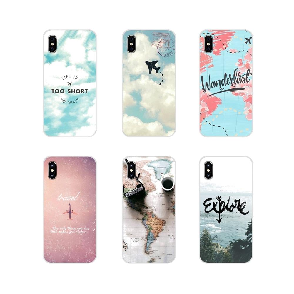 World Map Travel Plans Accessories Phone Cases Covers For Xiaomi Mi4 Mi5 Mi5S Mi6 Mi A1 A2 A3 5X 6X 8 CC 9 T Lite SE Pro