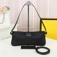 new retro jacquard letter rectangle bag ladies fashion crescent bag wild shoulder bag large capacity underarm bag