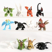 Футболка с изображением героев мультфильма «Как приручить дракона в Скрытая мир Беззубик, ночная фурия мини ПВХ Фигурки Dragon набор игрушек