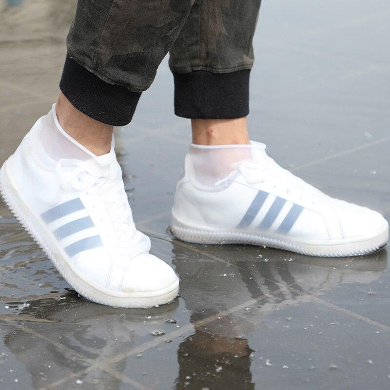1 par de cubiertas de lluvia reutilizables, cubiertas de zapatos impermeables, tamaño 30-44, cubiertas elásticas para Botas de lluvia, cubiertas para botas de otoño