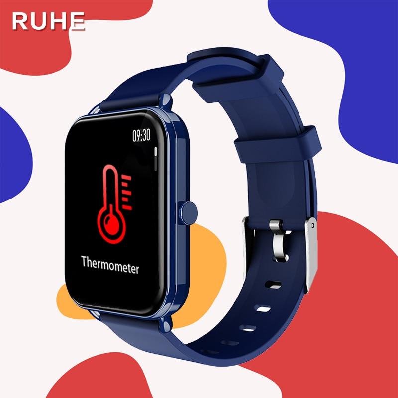 2021 new G16 Smart Watch Women Temperature Full Touch Heart Rate Music Fitness Tracker Sport Men Clo