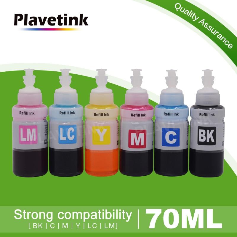 Plavetink 70ml botella de tinta de impresora para T6731 T6732 T6733 T6734 T6735 T6736 cartuchos Epson L800 L805 L810 L850 L1800 impresora