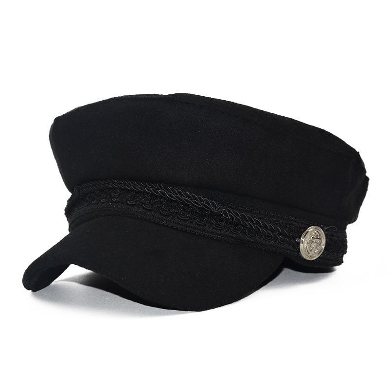 High quality Baseball Cap Baseball Cap Baseball Cap cotton wool cap ring detail suede baseball cap