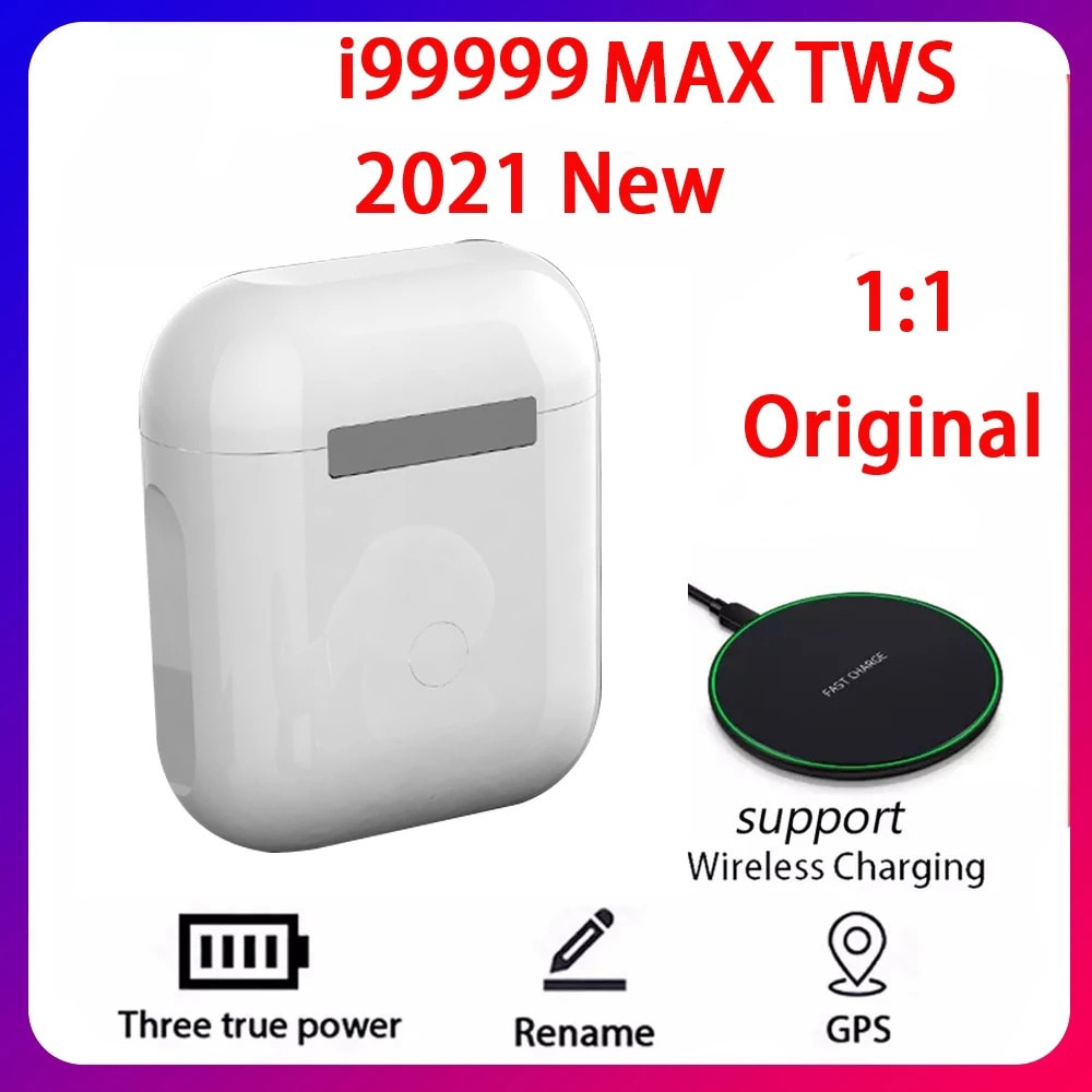 2021 Original i99999 MAX TWS inalámbrica auricular nombre Bluetooth 5,0 Super auriculares...