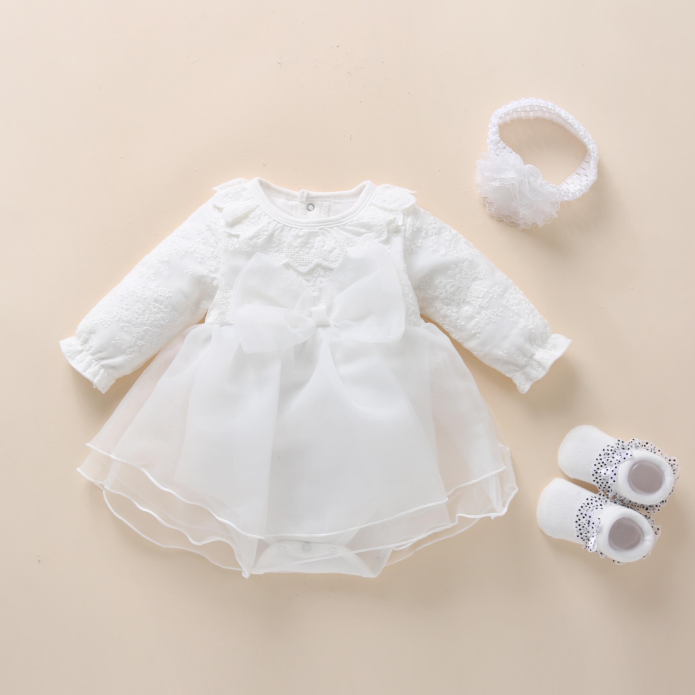 Детское платье на крестины белое платье Белоснежки для новорожденных платье на день рождения для маленьких девочек 1 год платья для крещени...