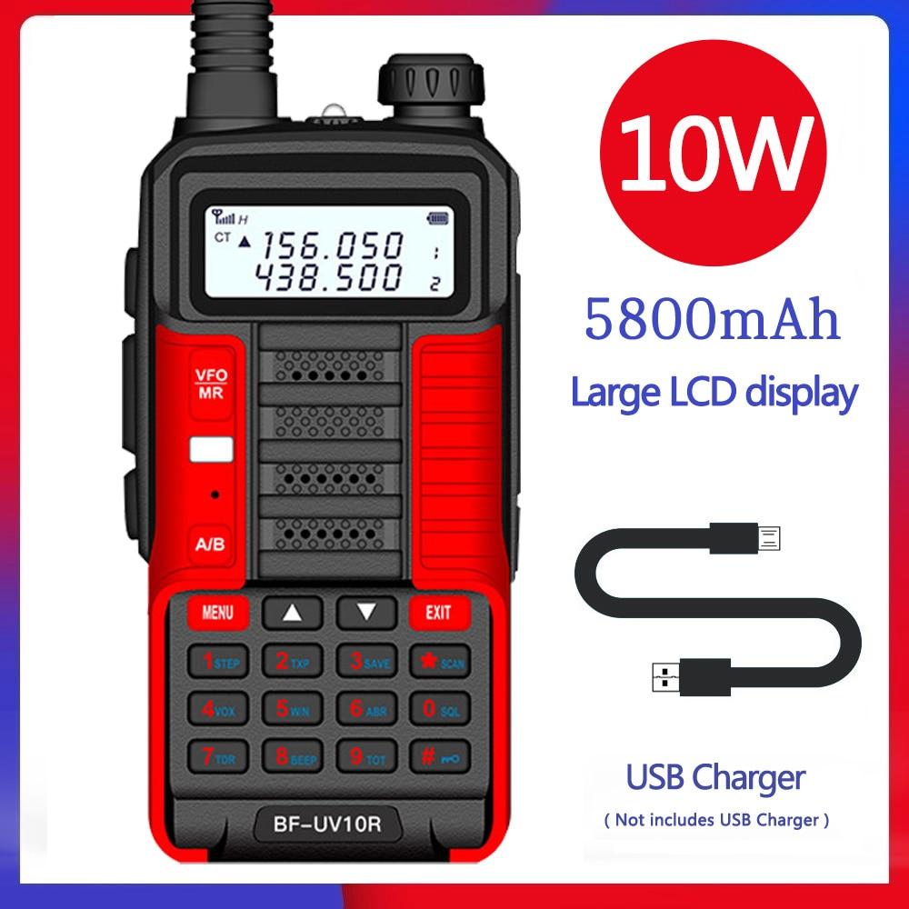 2021 BaoFeng UV 10R V2 Plus Powerful Walkie Talkie CB Radio HF Transceiver 30km Long Range up of uv-5r Portable Radio Hunt City