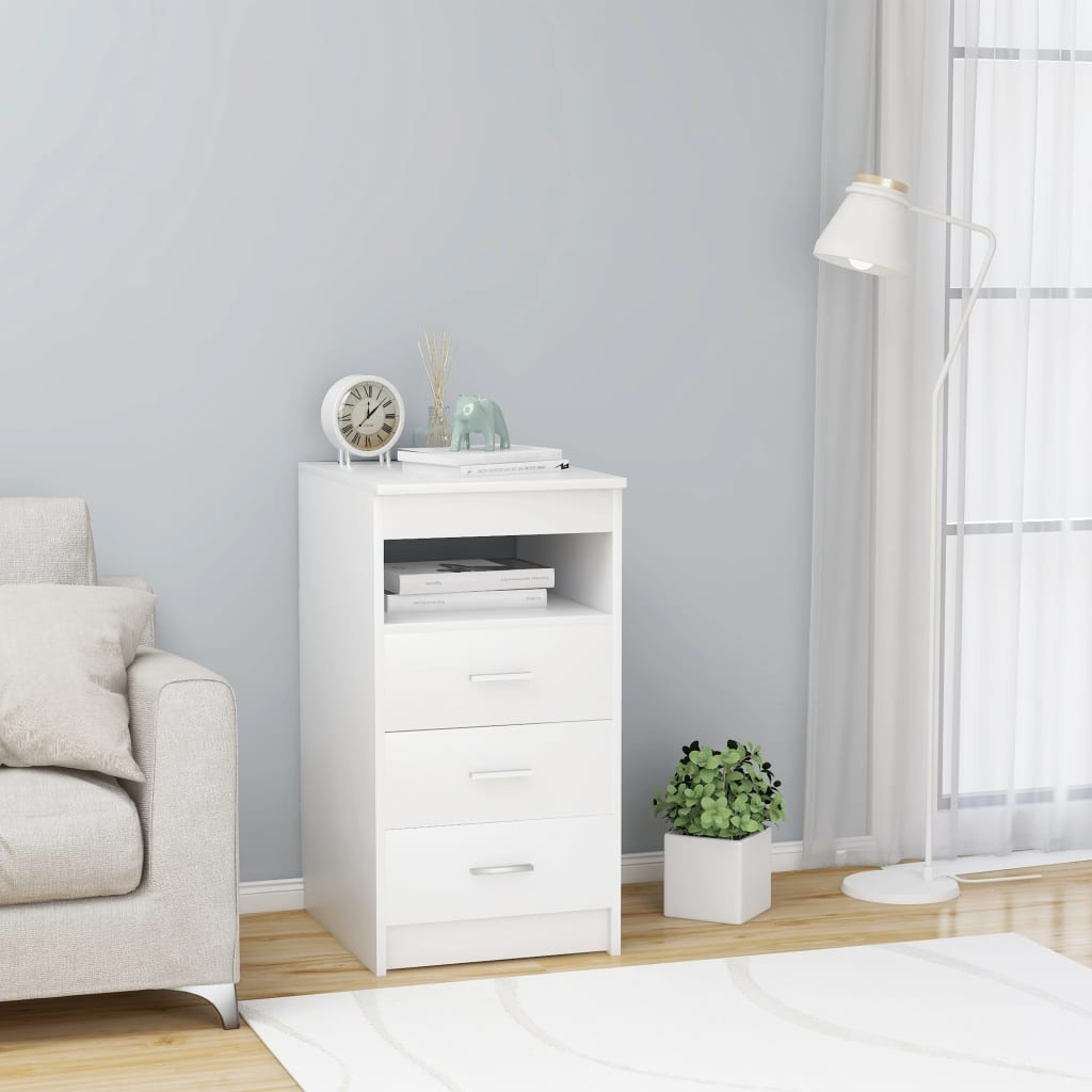 Filing Cabinets Office Drawer Cabinet White 15.7