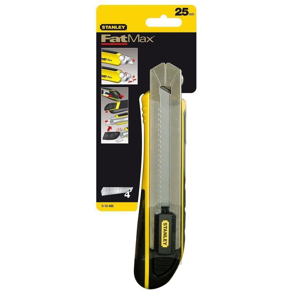 Stanley ST010486 25mm Fatmax Regulated Utility Knife Cutting Tools Construction Materials
