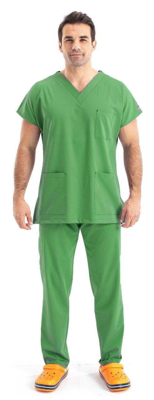 Dr Greys Model Surgical Forma Terikoton Male Peanut Green surgical forma women khaki green terikoton fabric