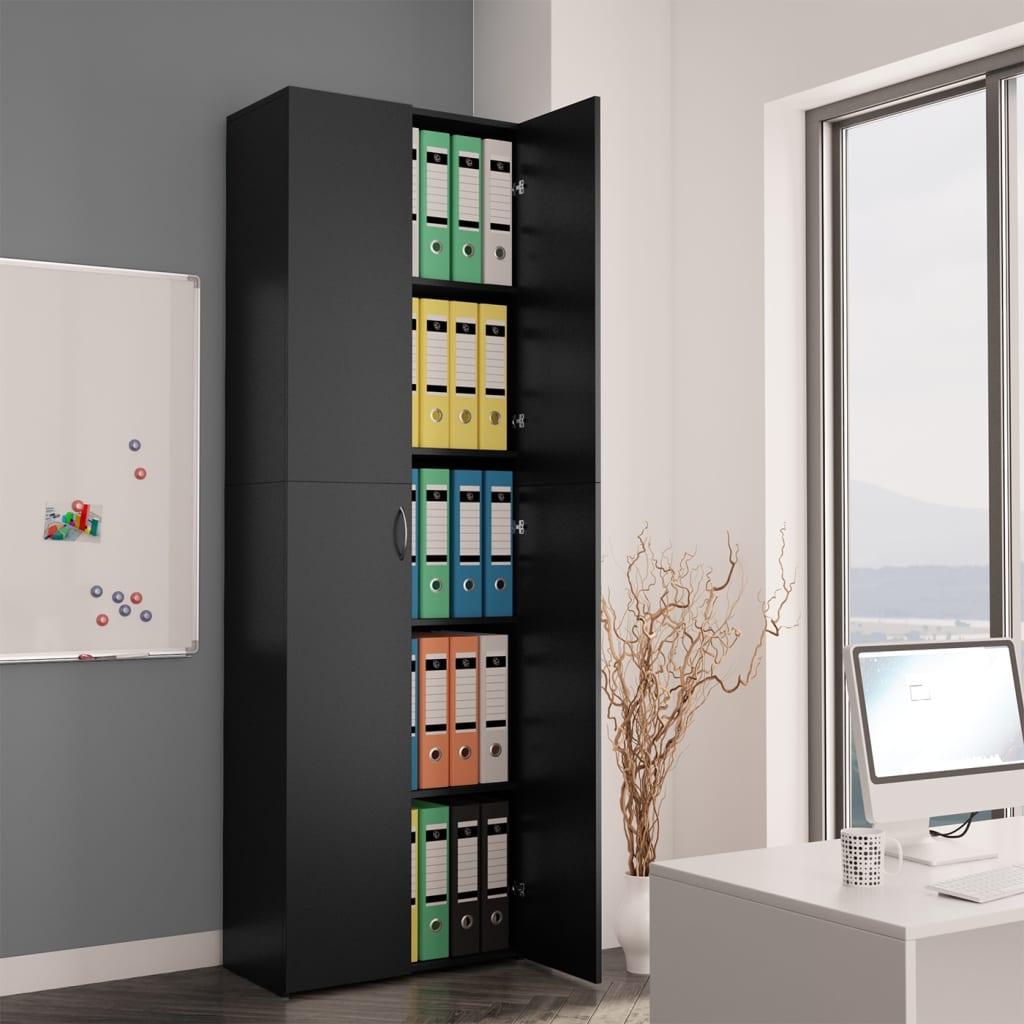 Высокие настенные офисные шкафы для хранения документов, для дома и офиса, черные, 23,6x12,6x74,8 дюйма, из ДСП шкафы витрины стеклянные для офиса